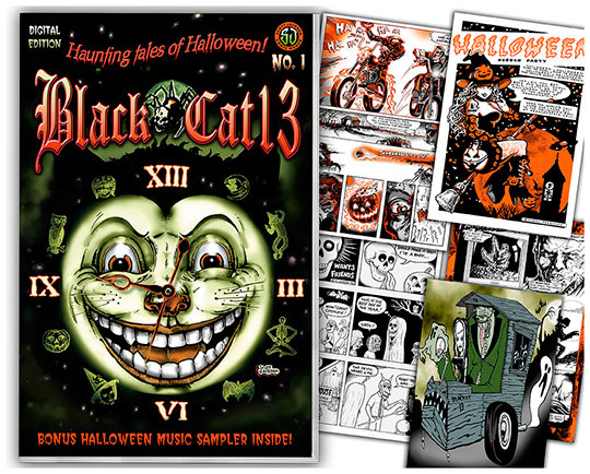 Black cat 13 Haunting Tales of Halloween comics artists